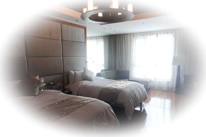 Our lovely room at the Jilin Qiaoshan Beidahu Resort Hotel.