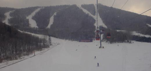 Sun Mountain Yabuli, with gondola lift.