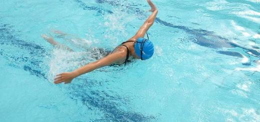 Swimmer doing butterfly.
