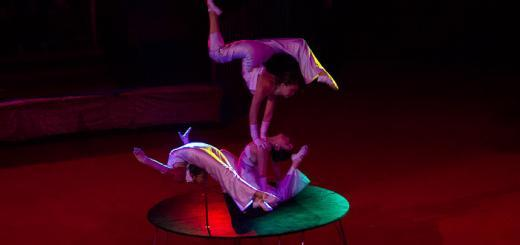 Contortionists at the Mongolian State Circus.