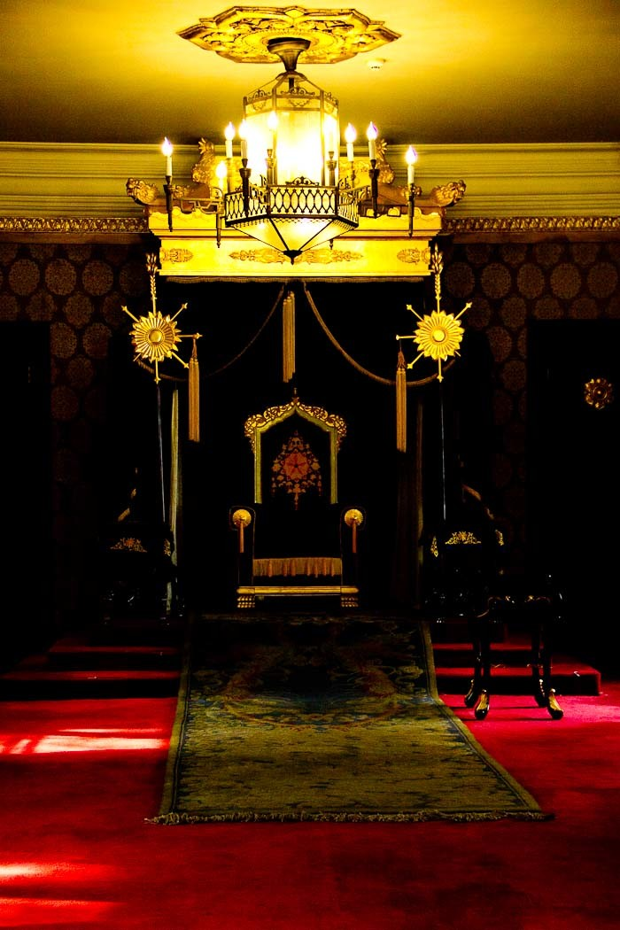 The throne room in PuYi's palace, Changchun.