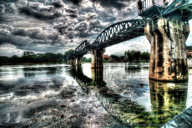 HDR shot of the bridge over the River Kwai by Laurence Norah of Finding the Universe.