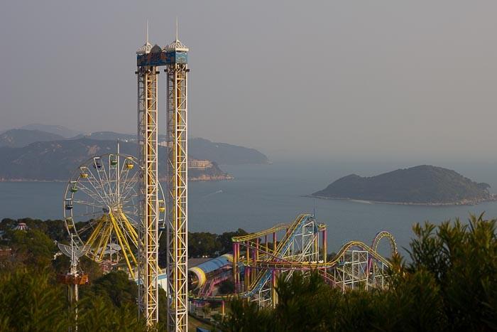 Ocean Park theme park in Hong Kong.