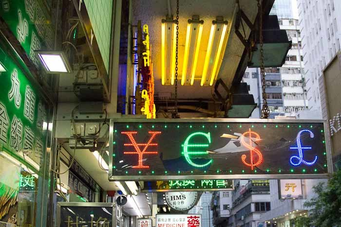 Street sign in TST, Kowloon.