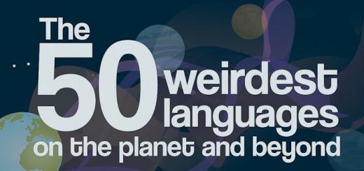 50 weirdest languages lead image.