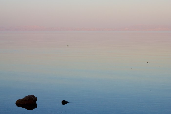 Sunset over the waters of Dahab.