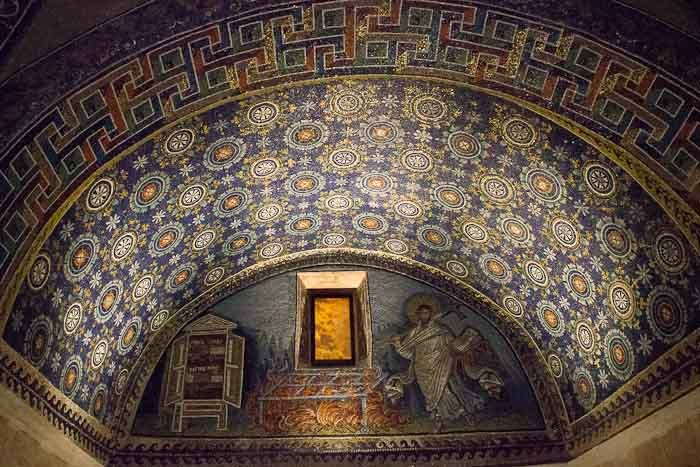 Mausoleum of Galla Placidia in Ravenna.