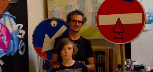 In Florence, Zac meets Clet, the artist.