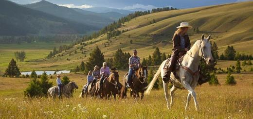 Ranch at Rock Creek - riding in Montana.