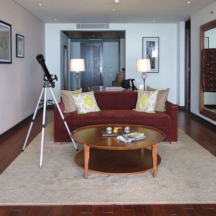 Suite at Samabe, with telescope.