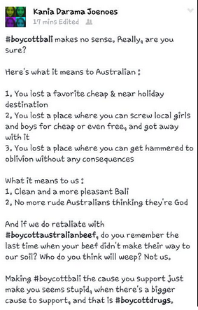 An Indonesian take on Australian tourists.