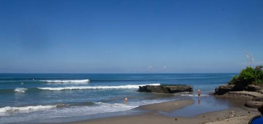 Batu Bolong beach in Canggu, Bali.