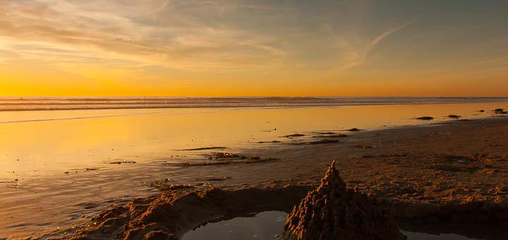 Eroded sandcastle.