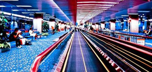 Travelator at Singapore's Changi airport.