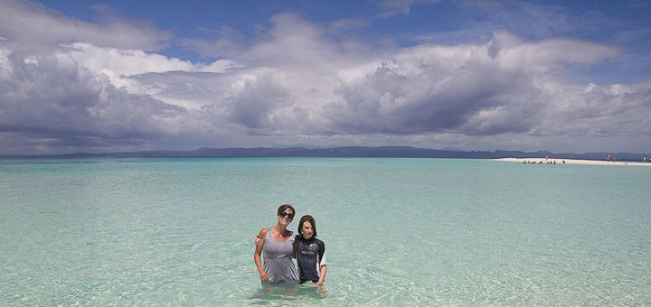Me and Zac enjoying the waters off Calanggaman, Malapascua.