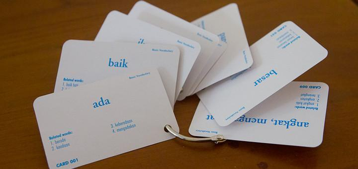 Tuttle's Indonesian flash cards.