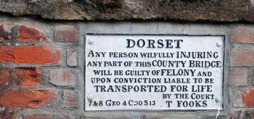 Sign threatening wayfarers in Dorset, UK.