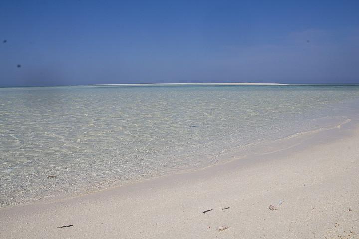 Pristine  beach in the Spermonde islands.