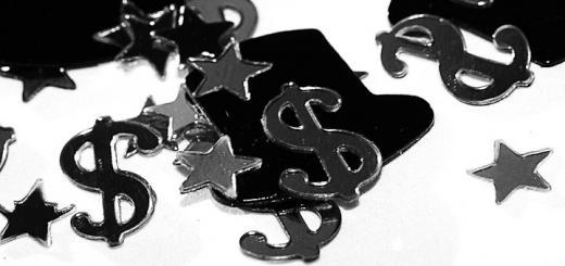 Dollar signs and stars mixed in confetti - Good Fortune by Wendy on Flickr.