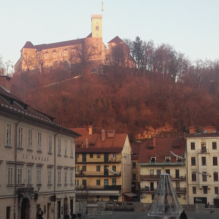 View of Ljubljana Castle.