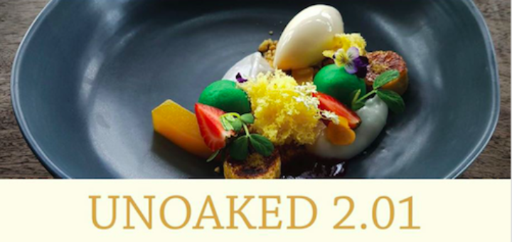 Picture of attractive dessert with title Unoaked 2.01