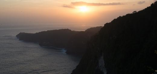 Sunset over Nusa Penida.